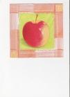 jablko na zelenom podklade