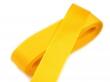 taftová stuha 25 mm - cena za 1 m-žltá