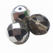Sklenené brúsené korálky-OHŇOVKY-5 mm/strieborné