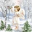 Anjelik v zimnom lese