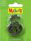 Sada kovových vykrajovátok MAKINS-3ks-Snehuliak