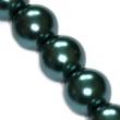 Sklenené voskované perličky 10 mm-smaragdové