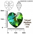 Swarovski heart pendants 6215-Vitrail medium
