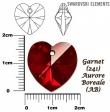 Swarovski heart pendants 6215-Siam AB