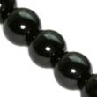 Sklenené voskované perličky 10 mm-čierne