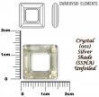Swarovski SQUARE 4439, 14 mm- Crystal silver shade