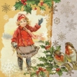Retro dievčatko a vianočné motívy
