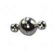 Magnetické zapínanie 6x11 mm/1 ks/postriebrené