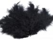 Pštrosie perie 120-170 mm, 20 ks v balení-čierne