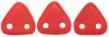 CZECH MATES TRIANGLE 6mm-5g-Matte opaque red