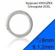 Spojovacie krúžky z chirurg ocele 6mm/2 ks