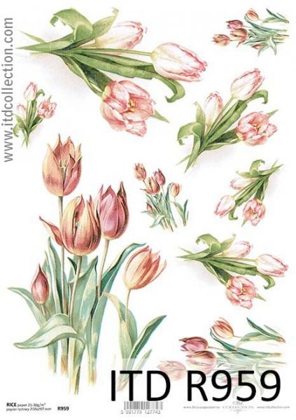 Ryžový papier 210x297mm- Tulipány 9428694a902