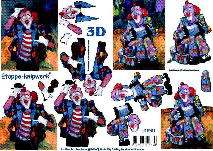 3D obrázky- Klauni