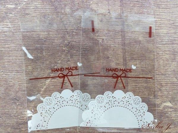 Celofánové sáčky Handmade 3/sada 10 ks