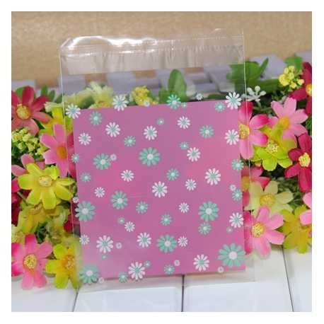 Celofánové sáčky Kvetinky-sada 10 ks