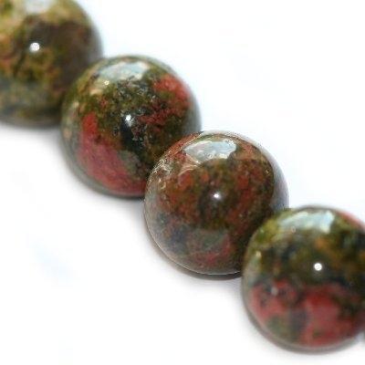 Minerálne kamene-UNAKIT 8mm,10ks v balení